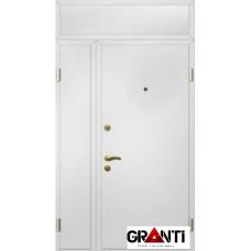 Дверь двустворчатая с фрамугой №16 - белая