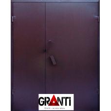 Входная металлическая дверь двустворчатая №26