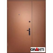 Входная металлическая дверь двустворчатая №27