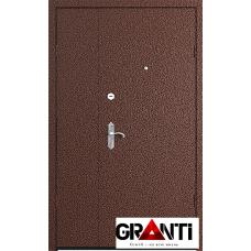 входная металлическая Дверь двустворчатая №4 - коричневая