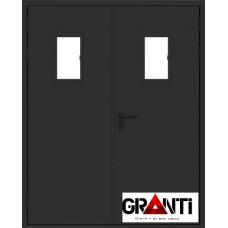 Дверь Противопожарная двупольная с стеклом №10
