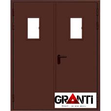 Дверь Противопожарная двупольная с стеклом №11