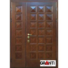 Входная металлическая Дверь МДФ  №3 нестандартная в коттедж