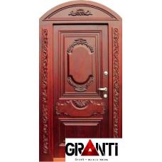 Арочная Входная металлическая Дверь Массив дерева №12 - премиум класса