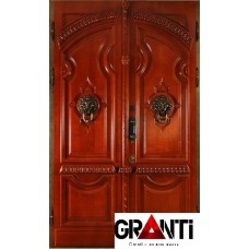 Элитная входная металлическая Дверь Массив дерева двухстворчатая премиум класса
