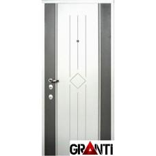 Белая Входная металлическая Дверь Массив дерева №36