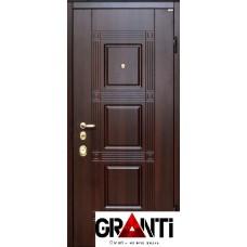 Входная металлическая Дверь Массив дерева №18 - темного цвета