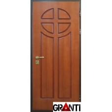 Глухая Входная металлическая Дверь Массив дерева №46