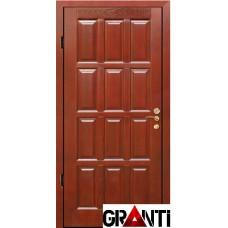 Входная металлическая Дверь Массив дерева №21 - коричневая
