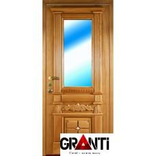 Входная металлическая Дверь Массив дерева №15 со стеклопакетом