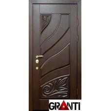 Красивая Входная металлическая Дверь Массив дерева №23 темного цвета