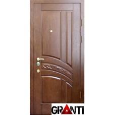 Входная металлическая Дверь Массив дерева №35 - коричневая под дерево