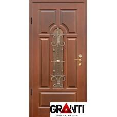 Входная металлическая Дверь Массив дерева №27 коричневая