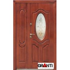 Дверь Двустворчатая №15 и стеклом