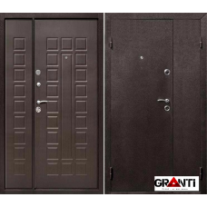 Входная металлическая Дверь двустворчатая №9 - темная