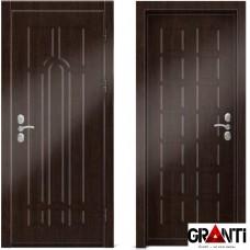 Входная металлическая дверь Венге 1.10 - цвет темный Венге