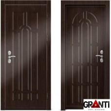 Входная металлическая дверь Венге 1.12 - цвет темный Венге