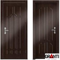 Входная металлическая дверь Венге 1.17 - цвет темный Венге