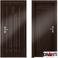 Входная металлическая дверь Венге 1.19 - цвет темный Венге