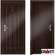 Входная металлическая дверь Венге 1.23 - цвет темный Венге