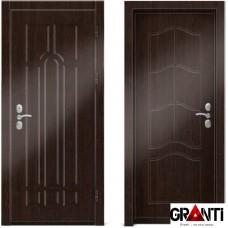 Входная металлическая дверь Венге 1.24 - цвет темный Венге