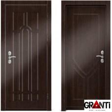 Входная металлическая дверь Венге 1.25 - цвет темный Венге