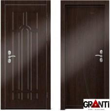 Входная металлическая дверь Венге 1.27 - цвет темный Венге