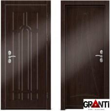 Входная металлическая дверь Венге 1.28 - цвет темный Венге