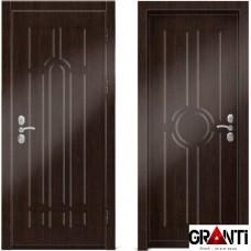 Входная металлическая дверь Венге 1.3 - цвет темный Венге