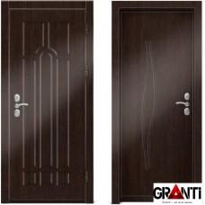 Входная металлическая дверь Венге 1.31 - цвет темный Венге