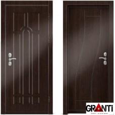 Входная металлическая дверь Венге 1.32 - цвет темный Венге