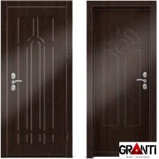 Входная металлическая дверь Венге 1.35 - цвет темный Венге
