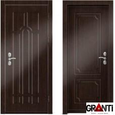 Входная металлическая дверь Венге 1.36 - цвет темный Венге