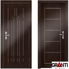 Входная металлическая дверь Венге 1.37 - цвет темный Венге