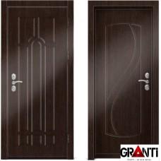 Входная металлическая дверь Венге 1.38 - цвет темный Венге
