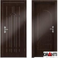 Входная металлическая дверь Венге 1.39 - цвет темный Венге