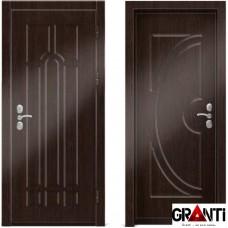 Входная металлическая дверь Венге 1.40 - цвет темный Венге