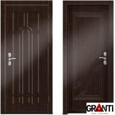Входная металлическая дверь Венге 1.41 - цвет темный Венге