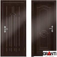 Входная металлическая дверь Венге 1.42 - цвет темный Венге