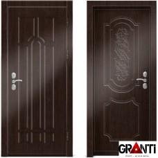 Входная металлическая дверь Венге 1.43 - цвет темный Венге