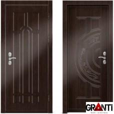 Входная металлическая дверь Венге 1.44 - цвет темный Венге