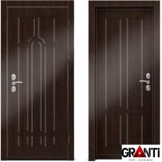 Входная металлическая дверь Венге 1.7 - цвет темный Венге