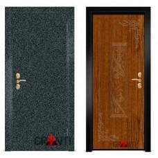 Входная металлическая Дверь МДФ - м 18.2 для загородного дома