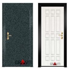 Входная металлическая Дверь МДФ - м 1.4 для загородного дома
