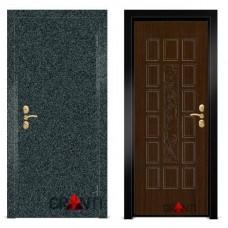 Входная металлическая Дверь МДФ - м 1.7 для загородного дома