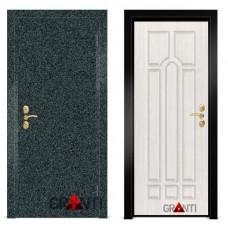 Входная металлическая Дверь МДФ - м 7.4 в коттедж