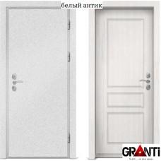 Входная металлическая дверь с отделкой МДФ белеого цвета серии  Б 11