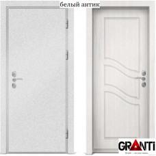Входная металлическая дверь с отделкой МДФ белеого цвета серии  Б 12