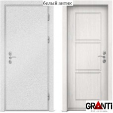 Входная металлическая дверь с отделкой МДФ белеого цвета серии  Б 13