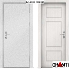 Входная металлическая дверь с отделкой МДФ белеого цвета серии  Б 14